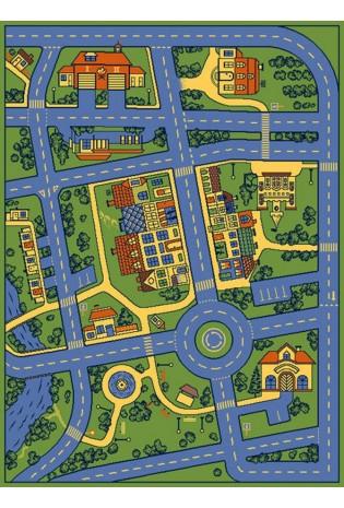 Paklājs Frise miasteczko niebieski2*2.15