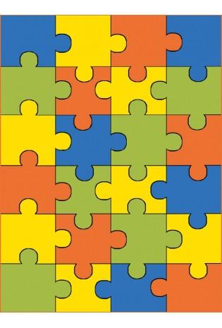 Paklājs Weliro Puzzle Terakota 1.20*1.70