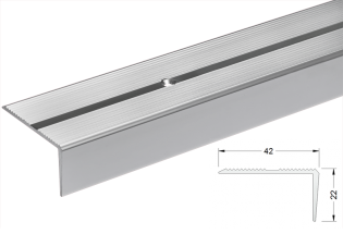 Alumīnija leņķis kāpnēm 22x42mm 300cm