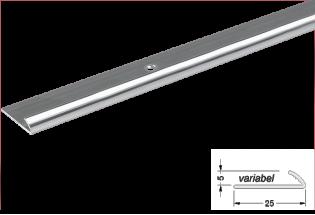 Alumīnija apdares profils 5mm 270cm