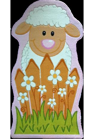 Paklājs Little Sheep pink 80x150